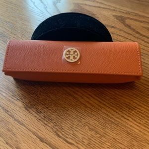 Brand New Tory Burch Orange Eye Glass Case Holder